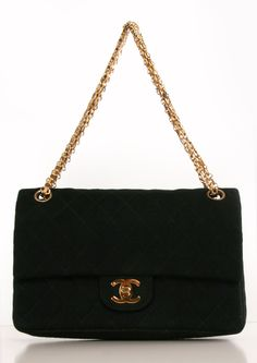 Chanel classic quilted fabric double flap shoulder bag- I think when I turn 40, this would make a fabulous birthday present! Chanel Classic Flap Handbags http://x.vu/chanelbags