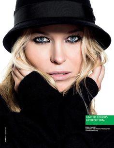"""Casi todas las notas de la nueva campaña de Benetton se centran en """"la modelo transexual Lea T"""". Yo lo primero que vi fue el maquillaje de Kiera Chaplin."""