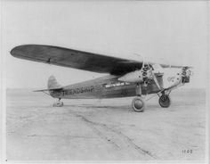 Fokker Tri-Motor Friendship. As passenger, Amelia Earhart was 1st woman to fly the Atlantic, 1928.