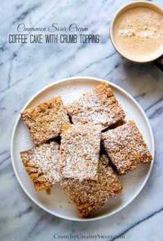 Cinnamon Sour Cream Coffee Cake with Crumb Topping - the one and only coffee cake recipe you will ever need! So easy and absolutely delicious!