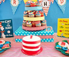 smash cakes, birthday parties, party themes, birthday idea, 1st birthday, birthday boy, dr suess, parti idea, hat