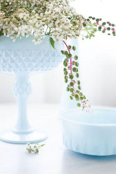 diy blue opaline from thrift store glass