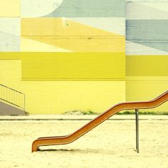 playground, graphic, color palettes, matthia heiderich, berlin, architecture, yellow, aqua, painted walls