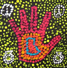 LOVE these aboriginal inspired dot paintings!