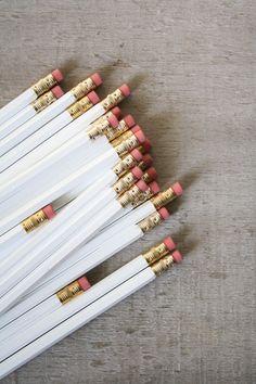 white pencils.