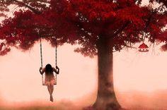 Girl on swing...