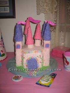Coolest Princess Castle Cake... This website is the Pinterest of birthday cake ideas