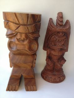 TIKI Statues for Bar or Home Decor 1970s Coco Joes by Vintageworks