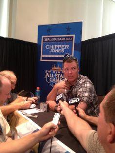 NL All-Star Game Chipper Jones talks to the Media