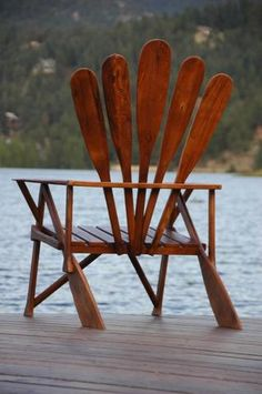 adirondack style chair made out of oars / paddles = awesome - @Marianne Glass Glass Glass Glass Celino Crane