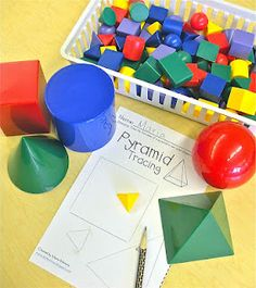 such great ideas for 3d shapes
