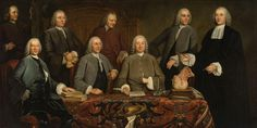 The Anatomy lesson of the city surgeon Petrus Camper in Amsterdam; with Petrus Camper, Loth Lothz, Pieter Jas, Coenraad Nelson, Nicolaas van der Meulen, Abraham Richard, Johannes Stijger, Gerrit van der Weert (far left the servant Van der Weert), 1758, by Tibout Regters. Note brain on a platter center foreground. http://en.wikipedia.org/wiki/File:Tibout_Regters_-_De_anatomische_les_van_Petrus_Camper.jpg