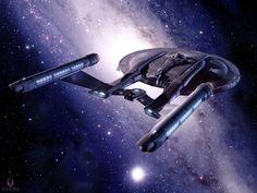 Enterprise as seen from behind