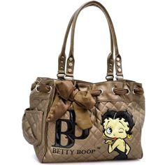 Betty Boop Scarf Accent Quilted Shoulder Bag - FREE SHIPPING $48.00