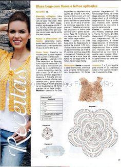 Ivelise Feito à Mão: Blusa Em Crochê Irlandês Receita Em Português...
