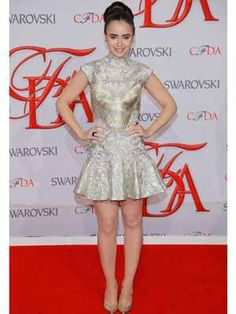 Lily Collins at the CFDA Fashion Awards