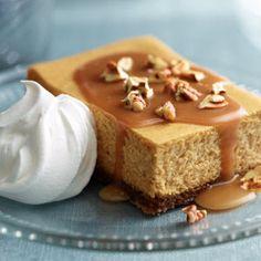 Pumpkin, Caramel and Pecan Cheesecake