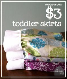 Cheap and fast sew it yourself skirts. Beginner level sewing too!