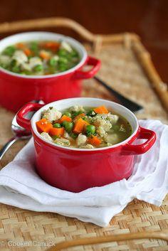 Light Chicken, Quinoa & Vegetable Soup Recipe   cookincanuck.com #soup #healthy #chicken by CookinCanuck, via Flickr