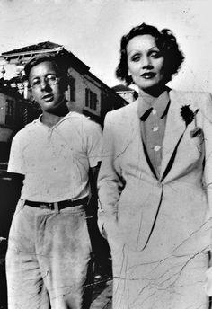 Ray Bradbury and Marlene Dietrich