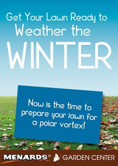 Learn how to weatherize your lawn for winter! Read full article: http://www.menards.com/main/c-19082.htm?utm_source=pinterest&utm_medium=social&utm_campaign=gardencenter&utm_content=weather-the-winter&cm_mmc=pinterest-_-social-_-gardencenter-_-weather-the-winter