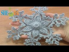 ▶ Crochet Snowflake Ornament Tutorial 8 Prat 2 of 2 Snow Flower - YouTube