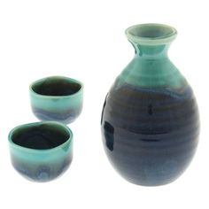 Sake Set Jade Ocean,