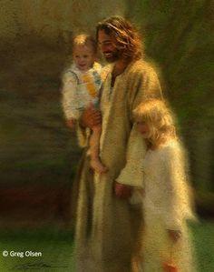 ❥ Jesus taking the children home