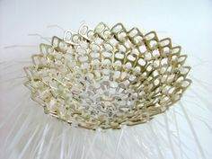 Use ZipTies and PopTabs to create a trashthetically pleasing bowl! Great for candy or fruit!