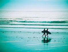 Morning Surfer Turquoise Photo  Kennebunk Maine  by BigBeanPhotos, $24.00