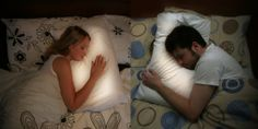 Long distance pillows. They light up when the other person is sleeping and lets you hear their heartbeat. what??!!
