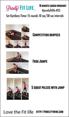 10 minute cardio workout #purelyfitlife 23 #fitfluential