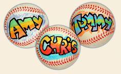 Baseball party favor...Let kids design their own baseball