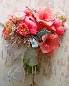 Summer wedding... Pink  Coral flowers