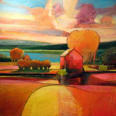 like the colors and depth in this painting by Mark Gould