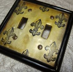 Fleur de Lis Light Switch Plate Cover double by YoungCreative