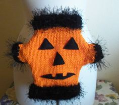 XS Halloween Pumpkin Face Dog Sweater by RocknHotdog on Etsy, $16.00