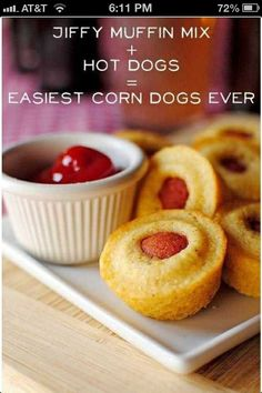 Easy corn dog snacks or party food