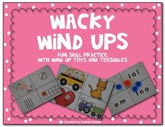 NEW ITEM (Great for small groups or centers): Wacky Wind Ups are a really fun way for K-1 students to practice reading and math skills such as Numbers to 10, Place Value, Beginning and Ending Sounds, Sight Words