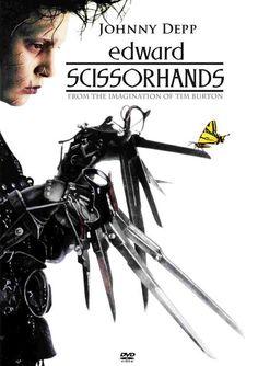 Edward scissorhands (1990) johnny depp, film, johnni depp, edward scissorhands, book, tim burton, favorit movi, movie poster scissorhands, comedy movie posters