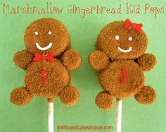Gingerbread marshmallow pops