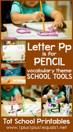 Tot School Printables Letter P is for Pencil {free} from @{1plus1plus1} Carisa #totschool