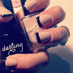 Cute variation of French manicure