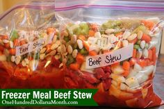 Is there anything better than a hot, hearty beef stew on a cold winter day? Yep. When you don't have to do any of the chopping or prepping cause you're a genius and already did it! Just taking a bag out of the freezer and tossing it in the Crock Pot in...