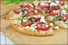 Strawberry and Goat Cheese Flatbread with Balsamic Syrup
