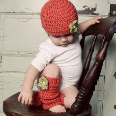 Crocheted leg warmers!!! ;-)