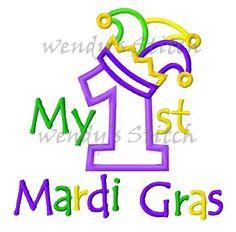 My 1st Mardi Gras number applique machine by WendysStitch on Etsy, $1.99