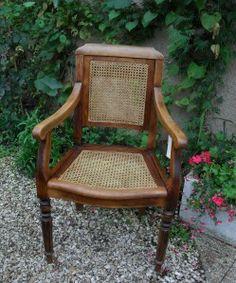 Cannage on pinterest louis xvi banquettes and chaise longue - Fauteuil barbier vintage ...