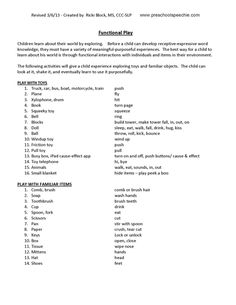 Functional Play Checklist