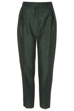 { emerald green peg trouser }